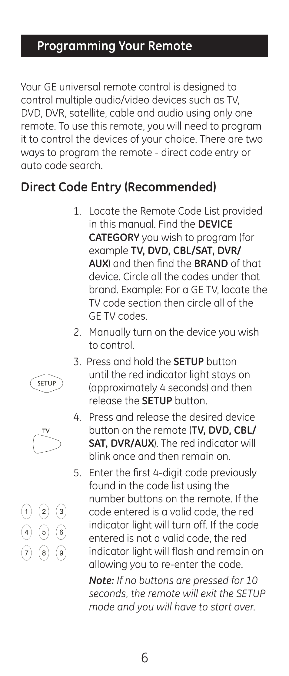 ge 24944 v2 universal remote user manual page 6 44 original mode rh  manualsdir com ge 24944 cl3 universal remote codes general electric 24944  ...