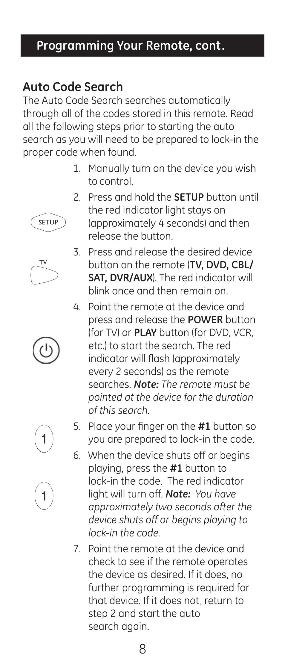 GE Universal Remote Codes | GE Universal Remote Manuals