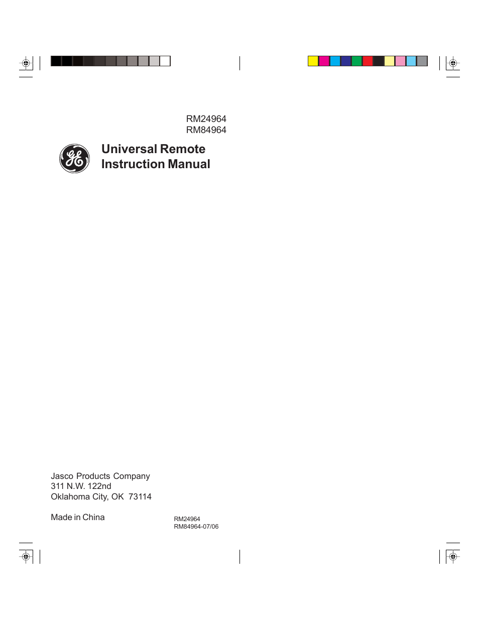 Universal remote instruction manual | GE 24964 GE Universal 3-Device Slider Remote  User Manual | Page 9 / 9