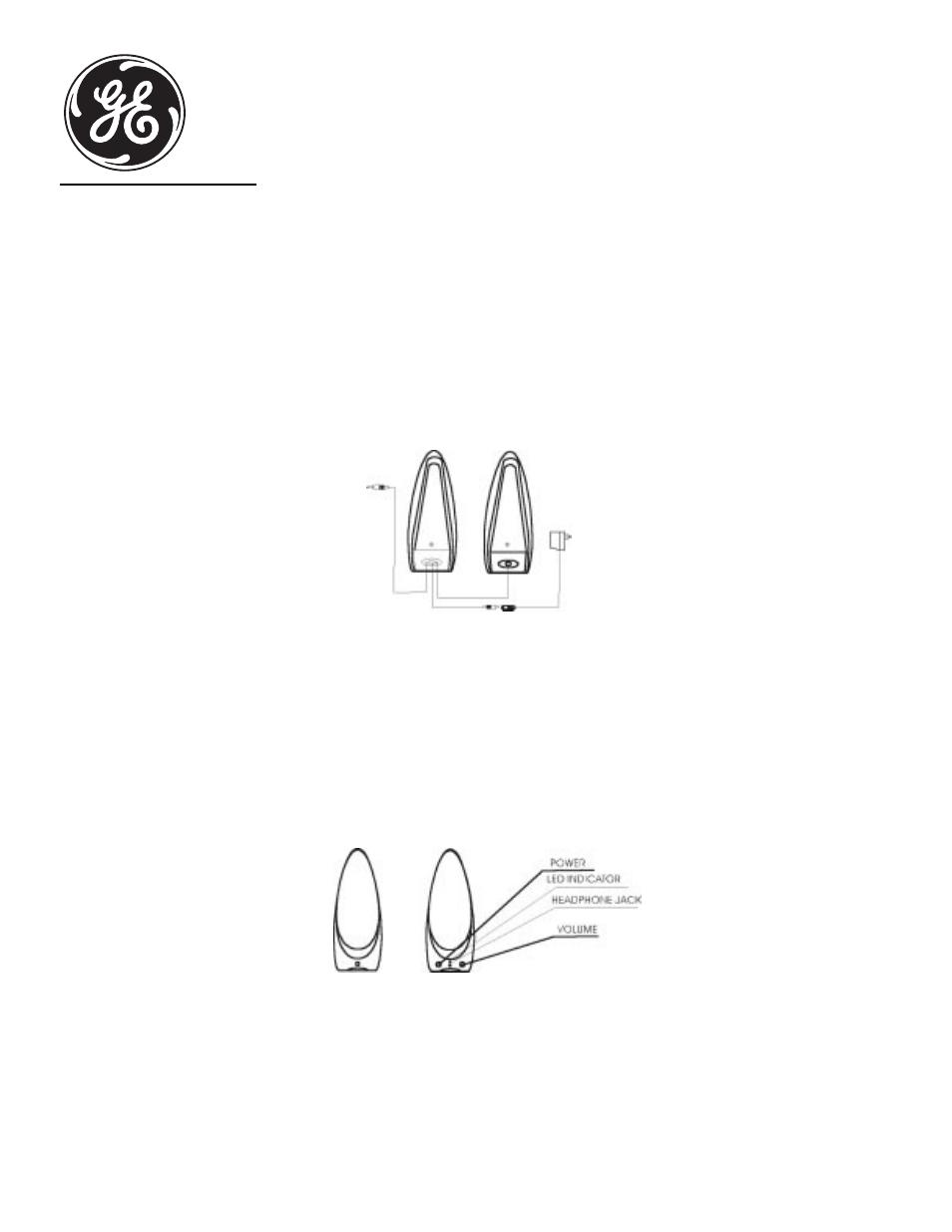 ge 98021 ge millennium speaker system user manual 2 pages rh manualsdir com GE Dynapower Speaker General Electric Computer Speakers
