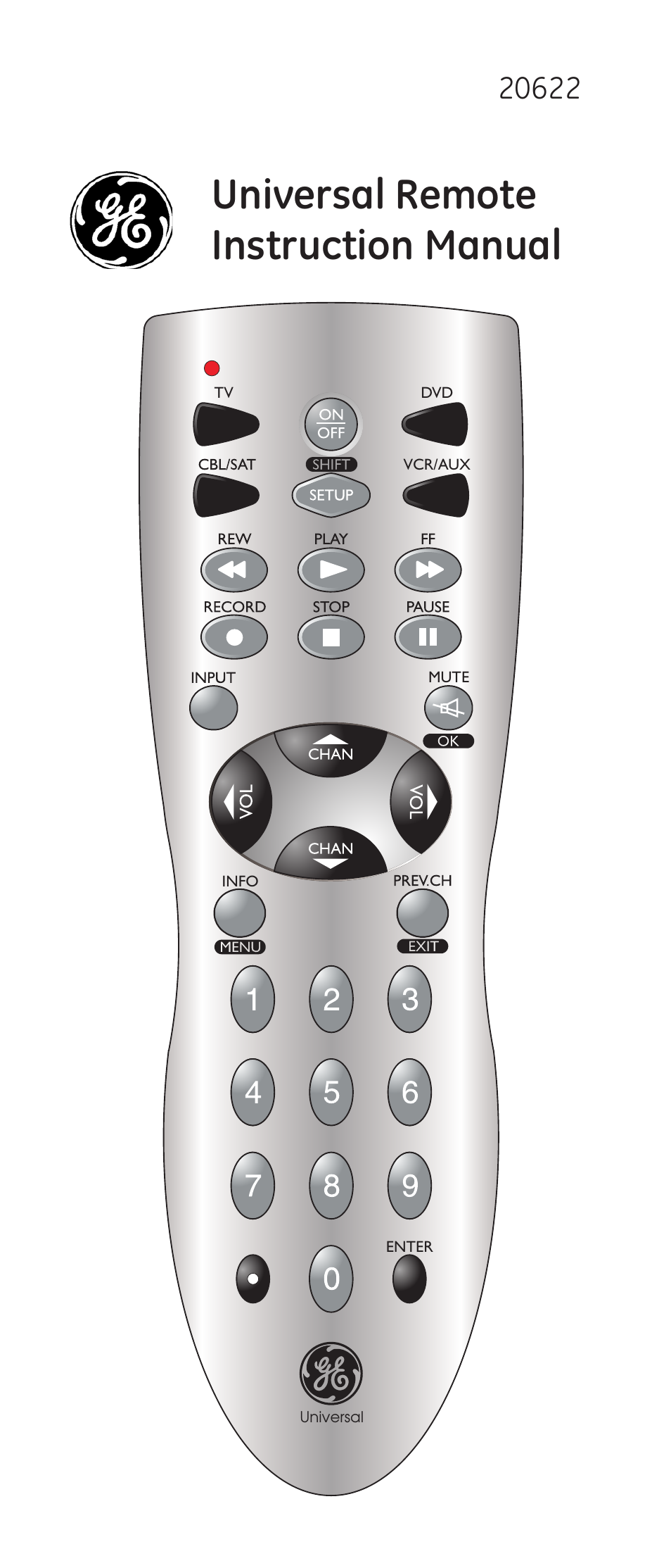 ge 20622 ge universal remote user manual