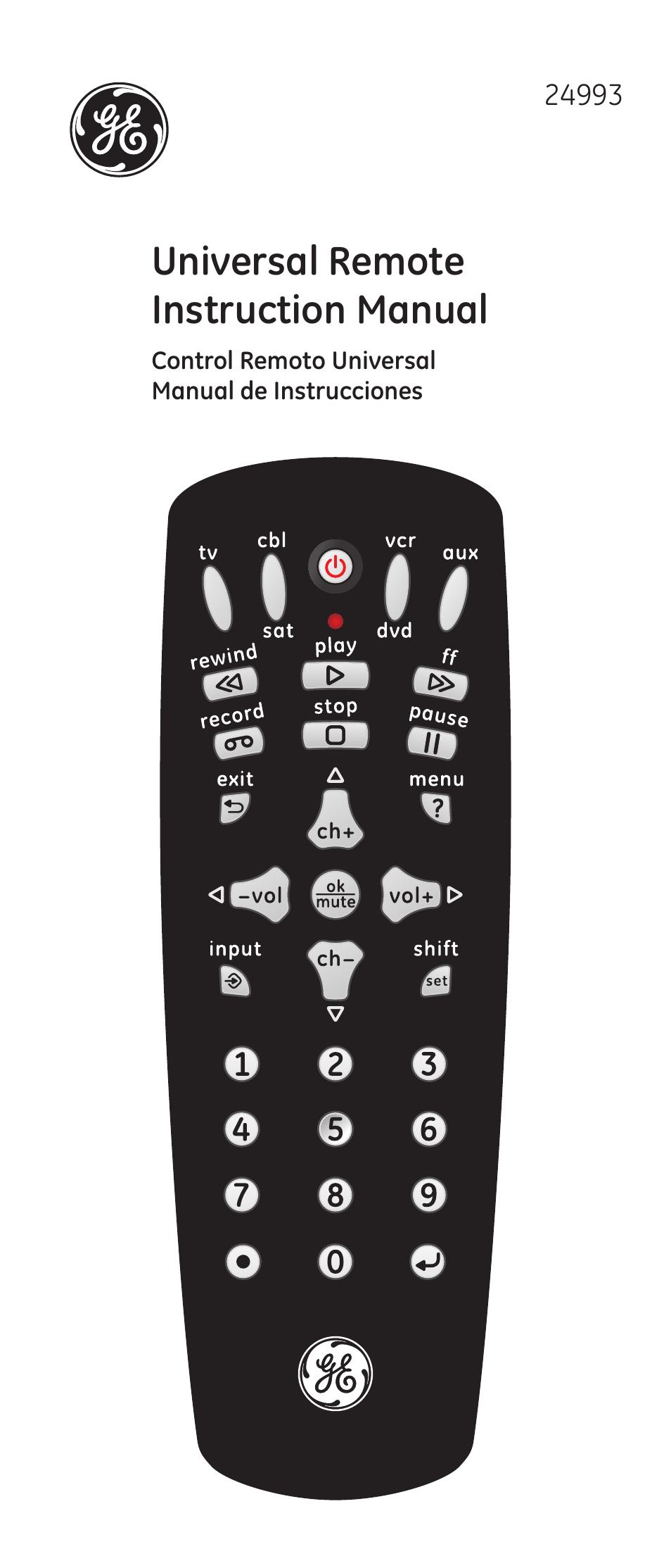 ge 24993 v2 ge universal remote control user manual 44 pages rh manualsdir com general electric oven user manual general electric microwave user manual