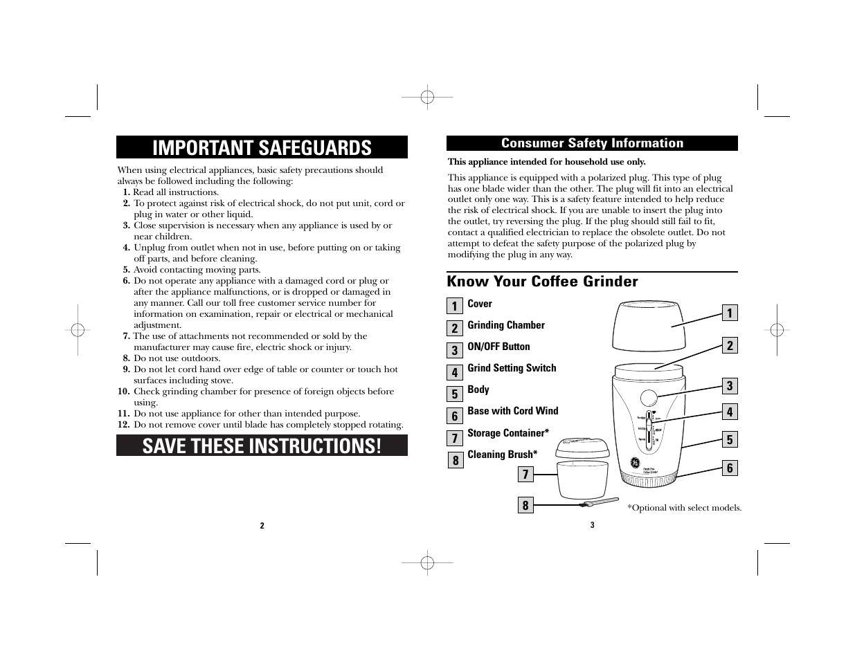 save these instructions important safeguards know your coffee rh manualsdir com Swing Away Can Opener Manual Mini Manual Can Openers