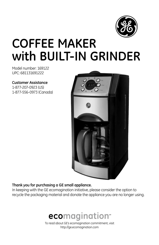 ge 169082 user manual 11 pages rh manualsdir com Best Manual Lever Espresso Machine Espresso Makers for Home