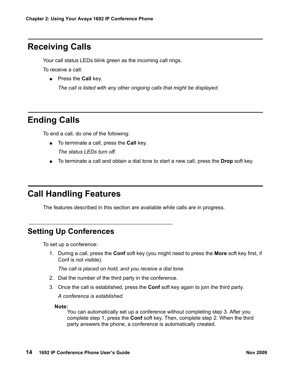 receiving calls ending calls call handling features avaya 1692 rh manualsdir com Avaya Voicemail User Guide avaya 1692 conference phone user guide