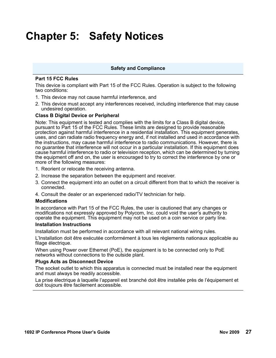 chapter 5 safety notices avaya 1692 ip user manual page 27 32 rh manualsdir com avaya 1692 ip conference phone user guide avaya 1692 conference phone user guide