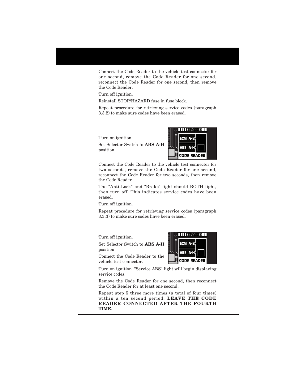 Retrieving Abs Codes Equus 3123 Gm Code Reader 1982 1995 Fuse Box Connectors User Manual Page 33 52