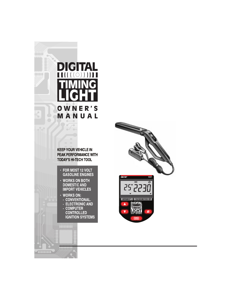 equus 3568 innova digital timing light user manual 12. Black Bedroom Furniture Sets. Home Design Ideas