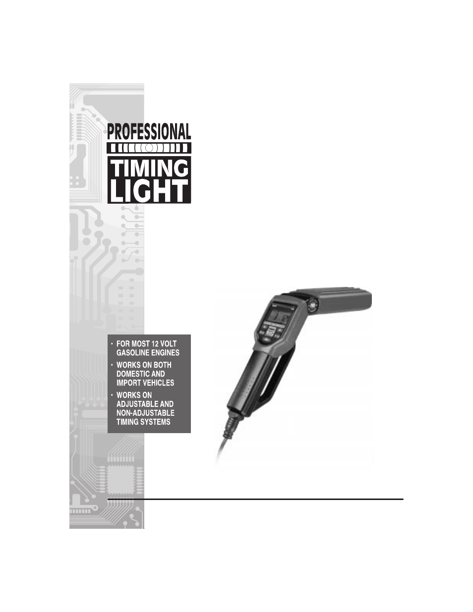 craftsman professional timing light manual