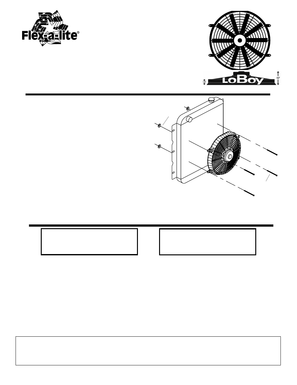 Flex A Lite 119 Pusher Loboy Electric Fan User Manual 1 Page In Line Fuse Box Also For 118 Puller