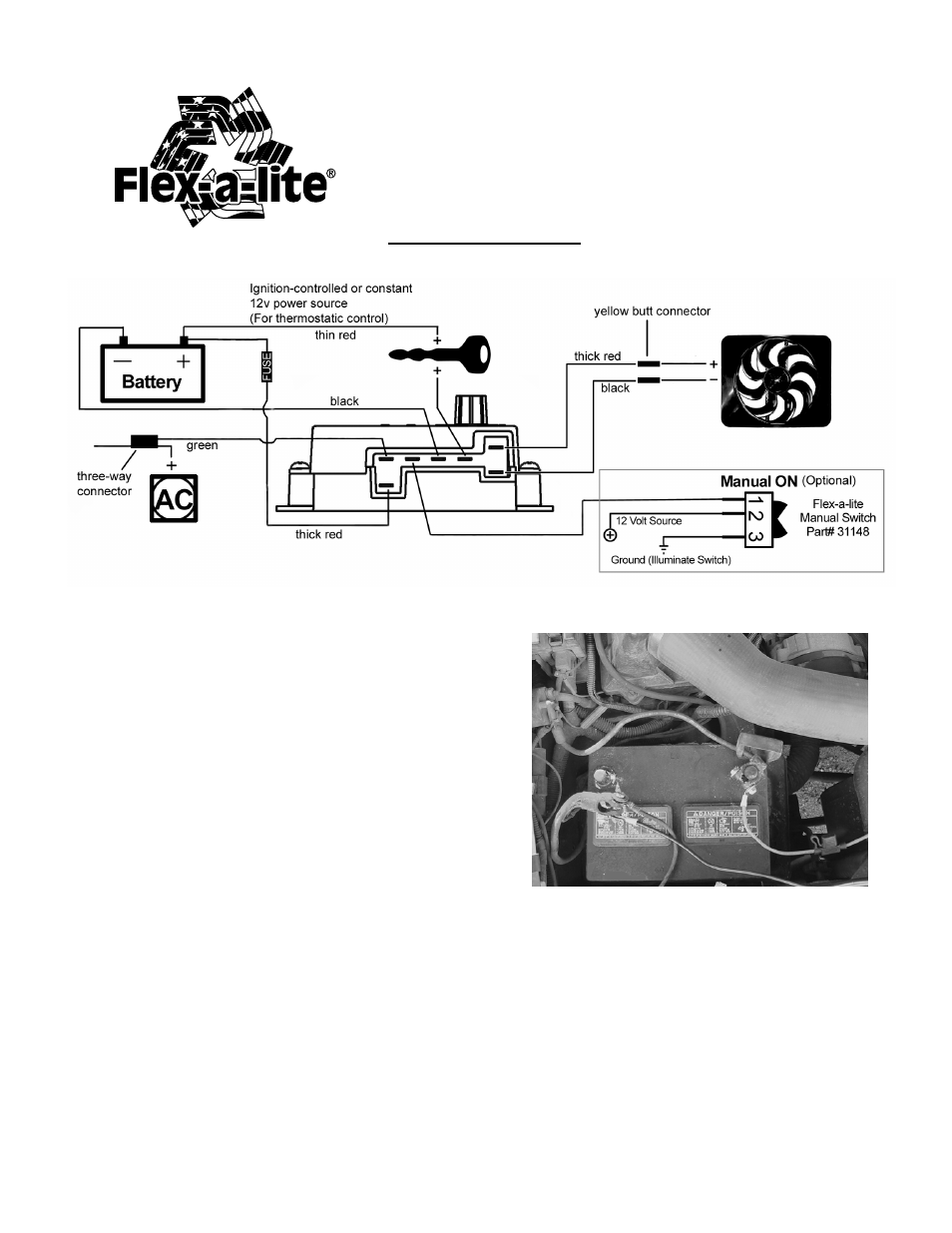 Flex-a-Lite 31149 Temp. Control Module User Manual | 2 pages