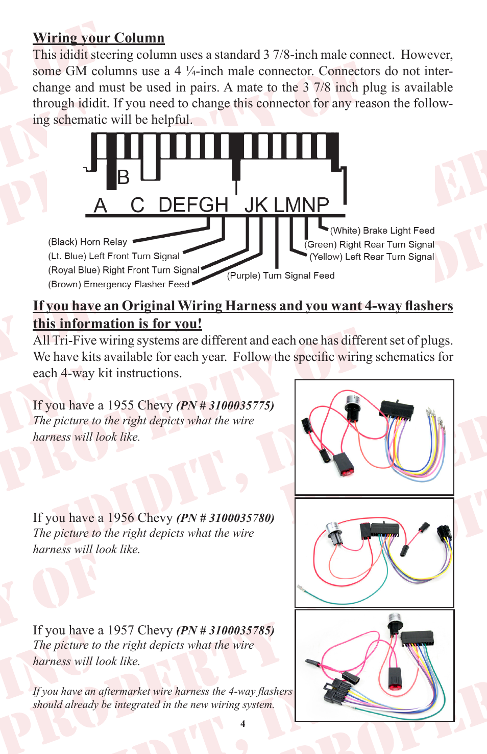 ididit retrofit steering column: tri-five chevy user manual | page 5 / 18