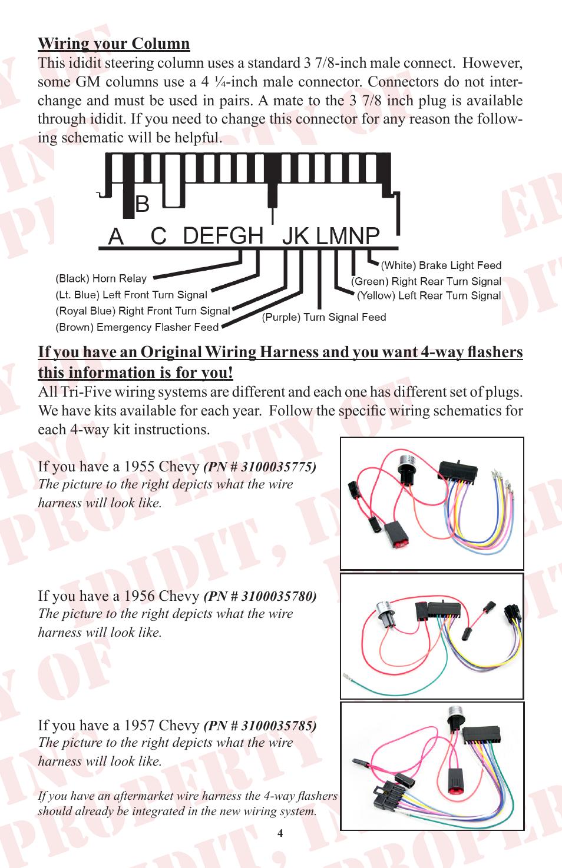 chevrolet steering column wiring diagram ididit retrofit steering column tri five chevy user manual page  ididit retrofit steering column tri
