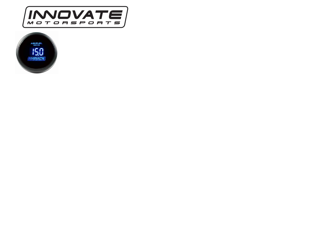 Innovate Motorsports Db Digital Air Fuel Gauge User Manual 1 Page Wiring A