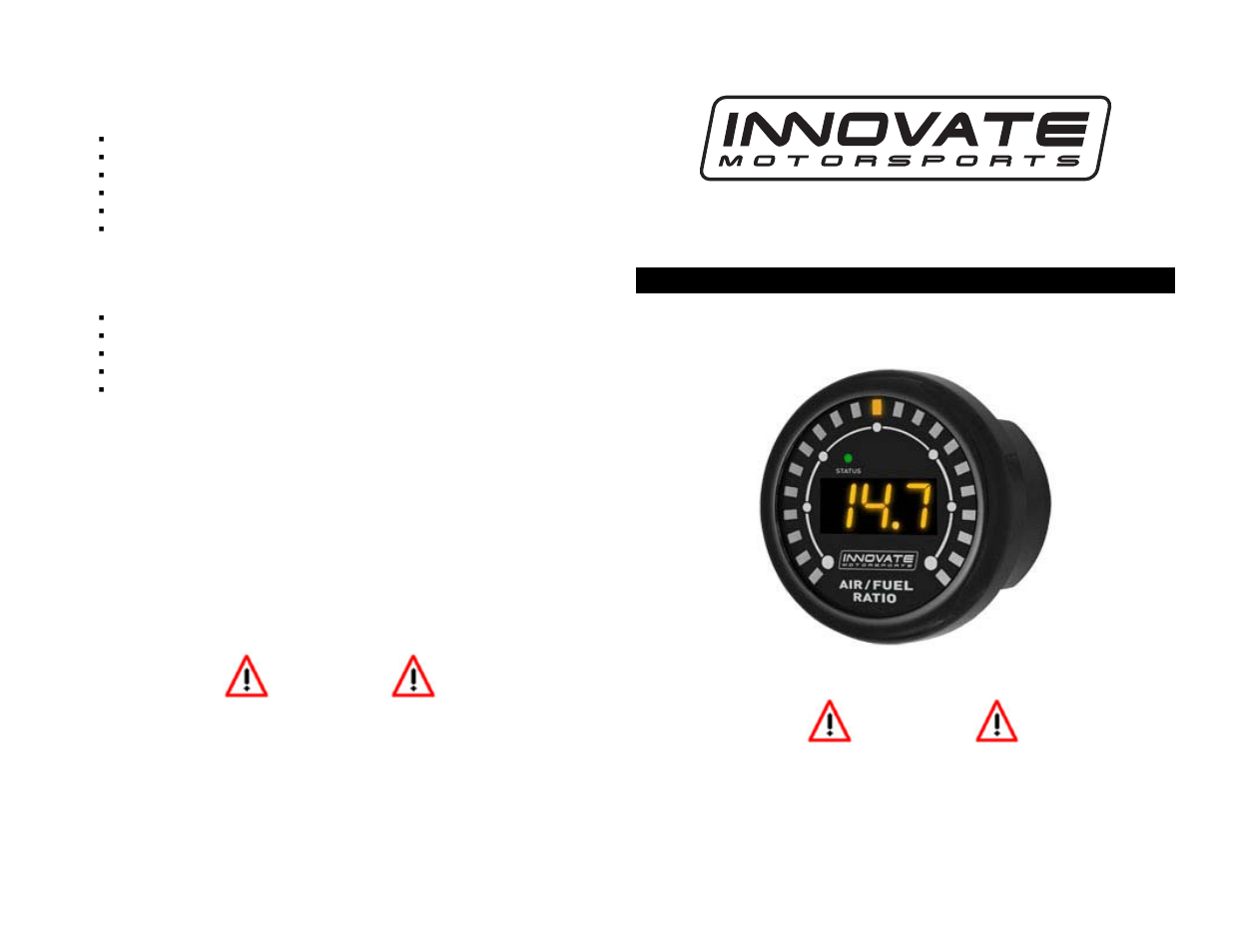 Innovate Motorsports MTX-L Quick Start Guide User Manual   2