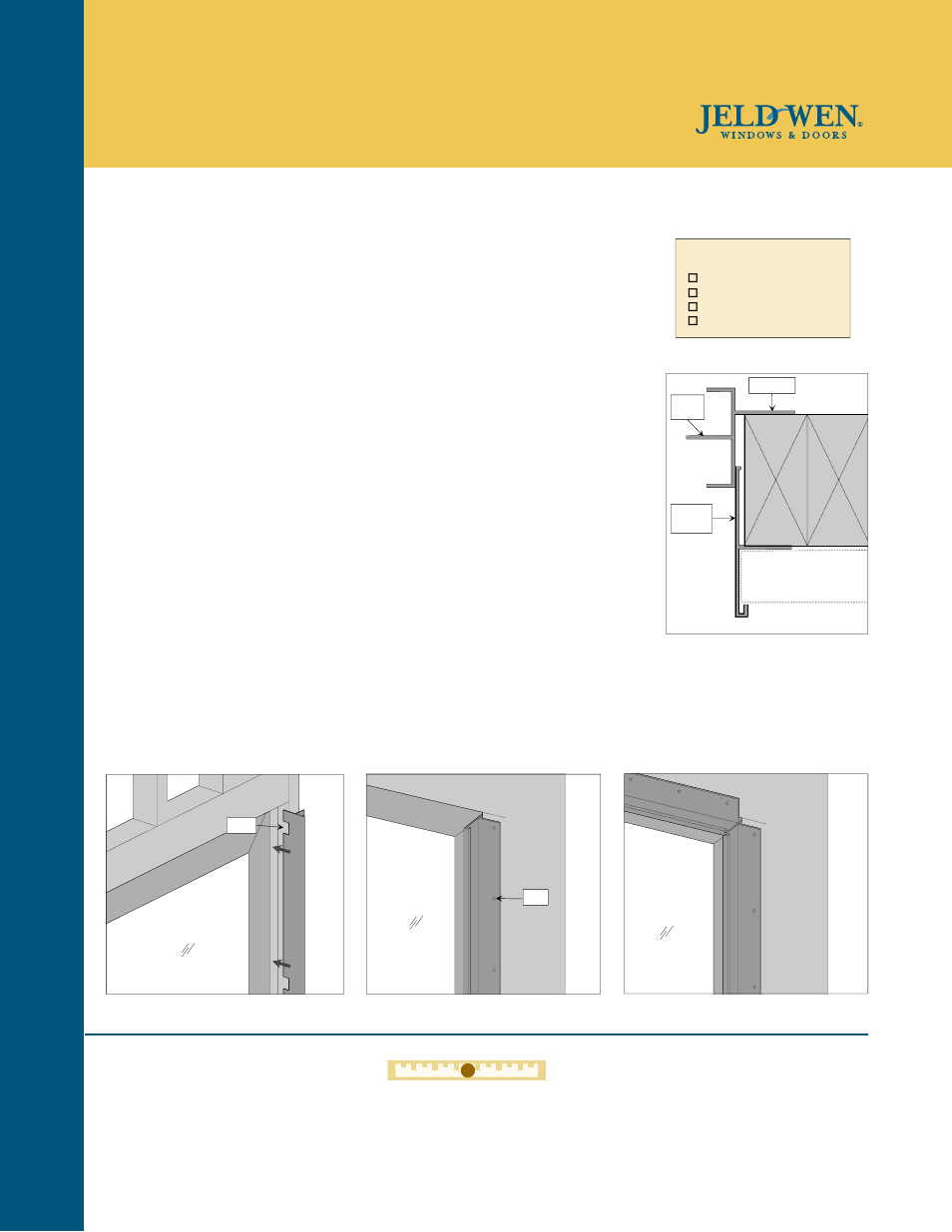JELD WEN SIV002 Aluminum Extension Jamb For Vinyl Patio Doors User Manual |  1 Page