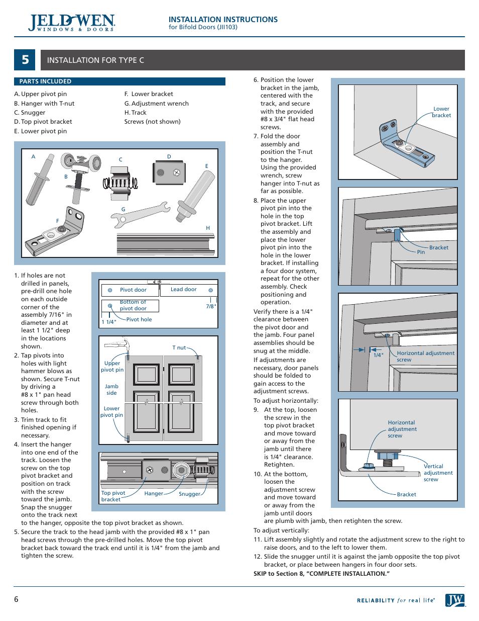 Installation Instructions 6installation For Type C Jeld