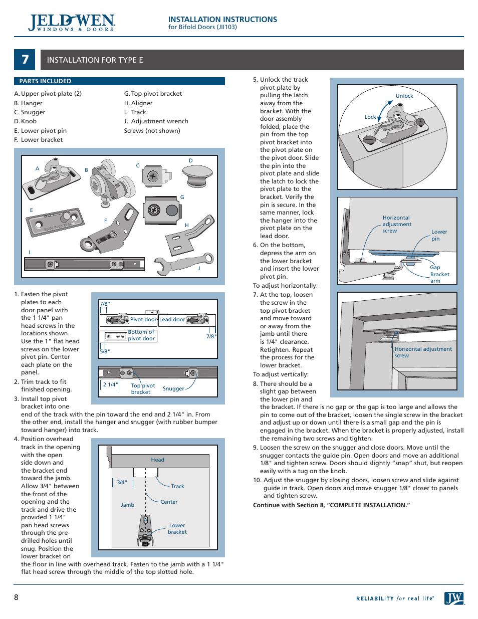 Installation Instructions 8installation For Type E Jeld