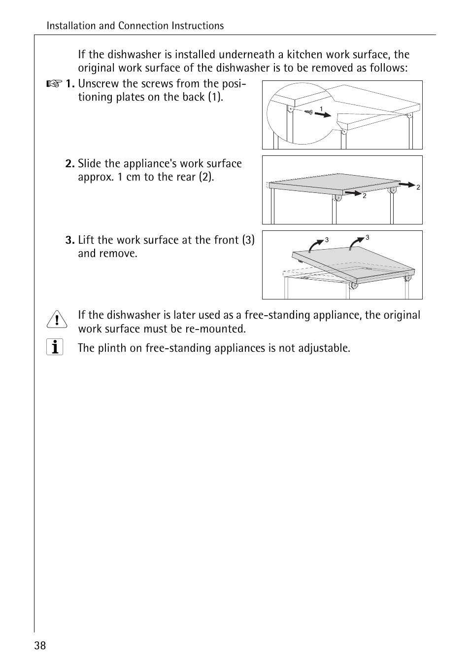aeg favorit 40740 user manual page 38 48 original mode rh manualsdir com aeg dishwasher instruction manual aeg dishwasher installation manual