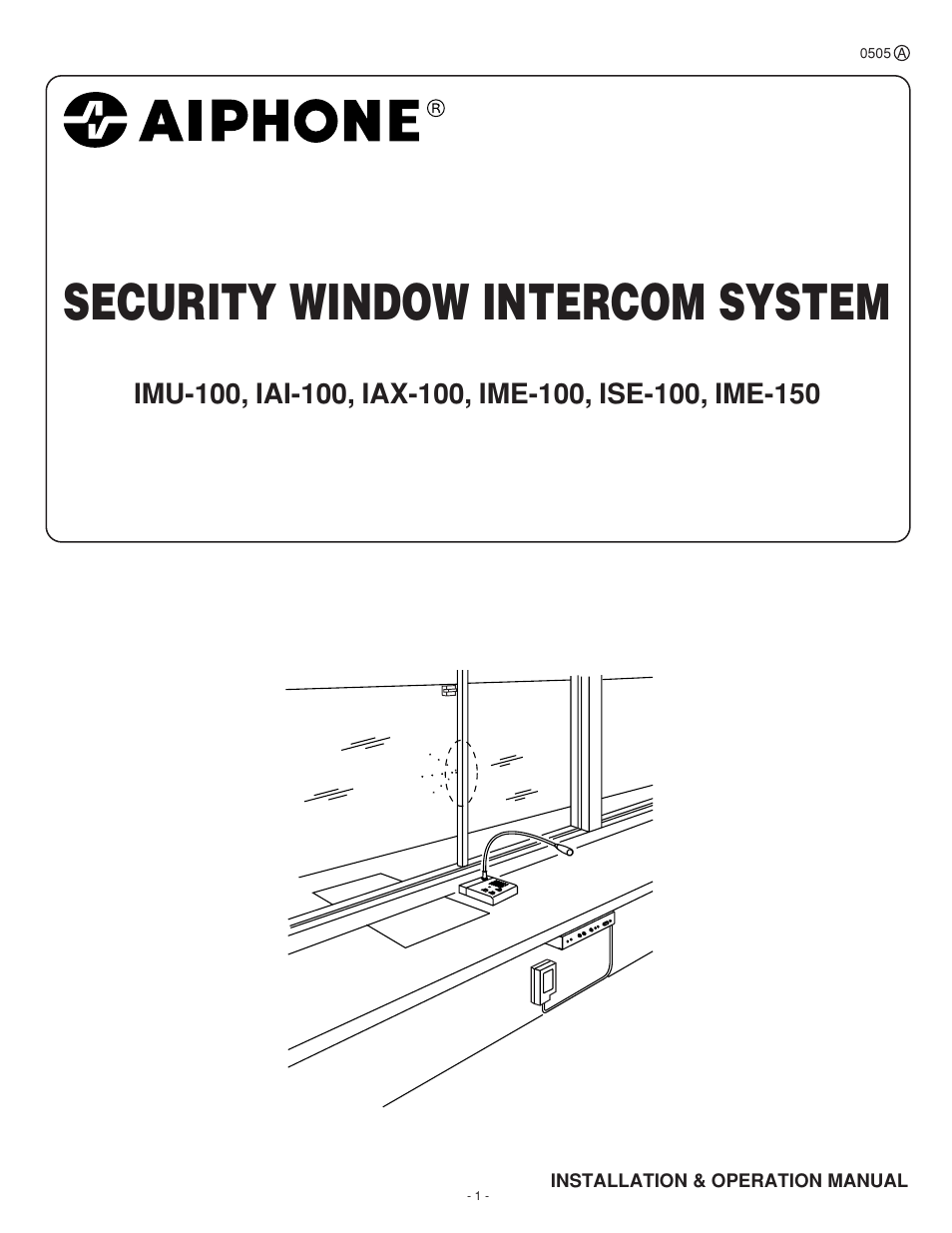 Aiphone Ise 100 User Manual 20 Pages Also For Imu Iax Intercom Wiring Diagram And Installation Guide Ime 150 Iai