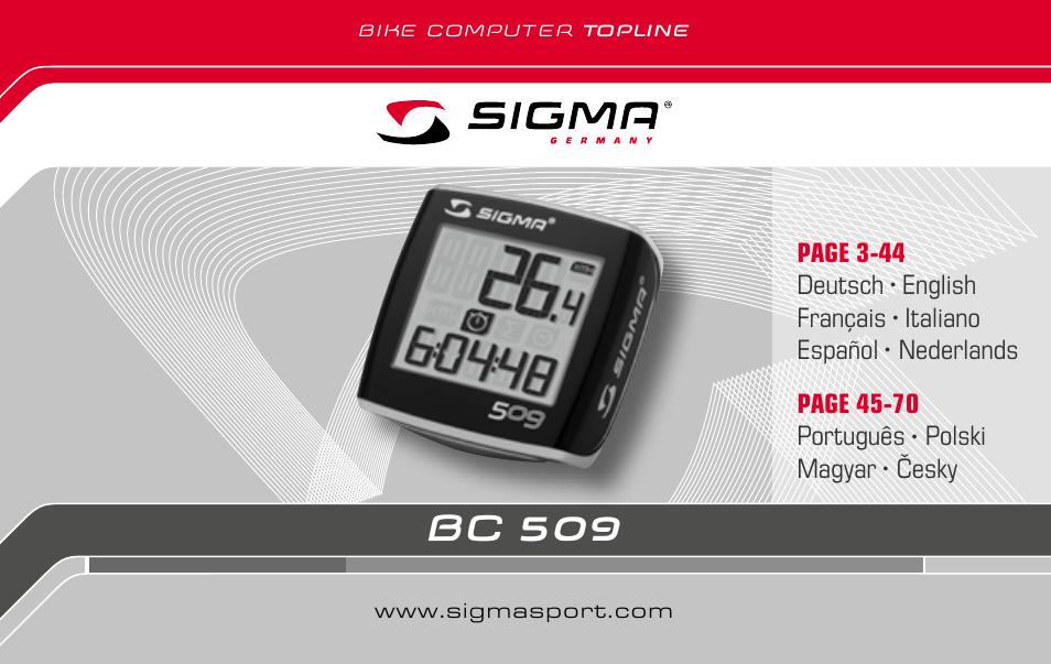 Manual sigma bc 8.12