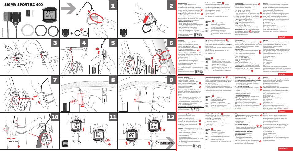 Sigma bc 600 1997 user manual | 2 pages | original mode.