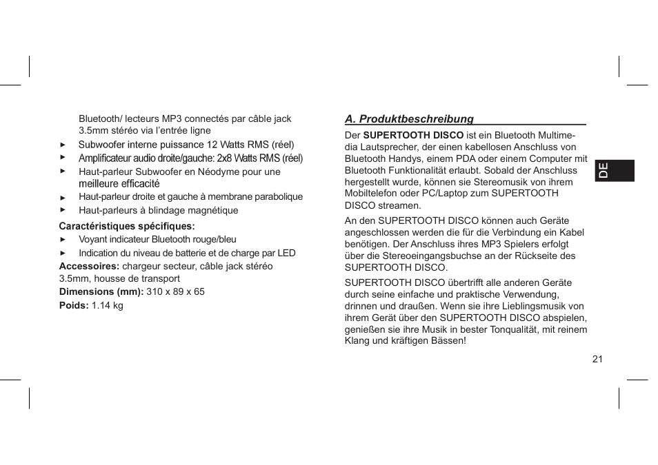 supertooth disco user manual 62 pages original mode rh manualsdir com Supertooth 2 Wall Charger Disco Speaker