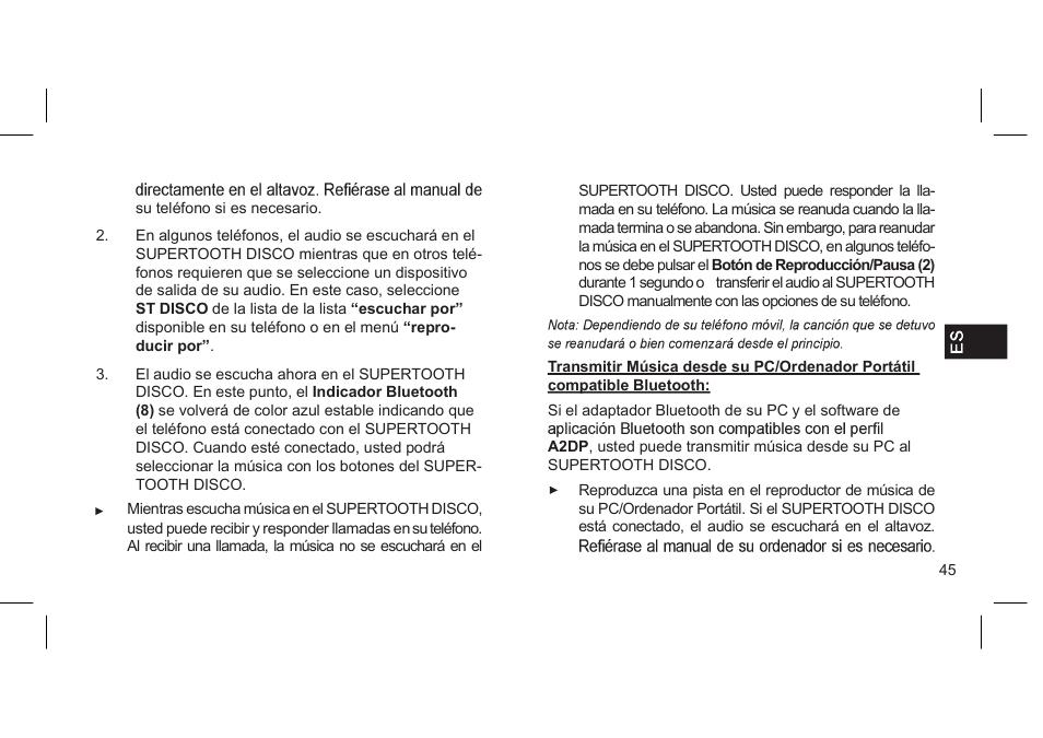supertooth disco user manual page 26 62 original mode rh manualsdir com Supertooth France Disco Bluetooth Stereo
