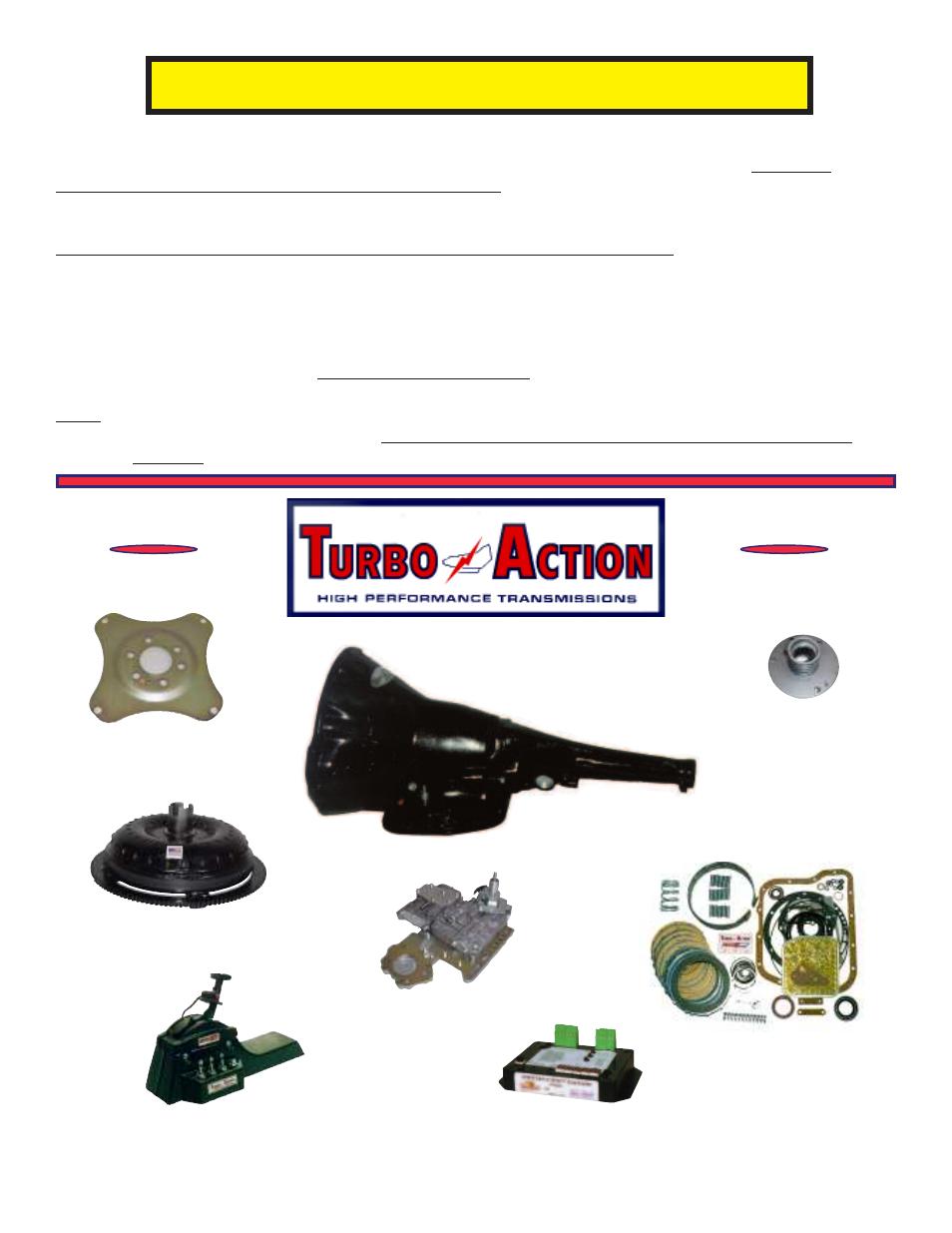 water burnout instructions turbo action 17880xa torqueflite 727 rh manualsdir com 727 Automatic Transmission Rebuild 727 Automatic Transmission Rebuild