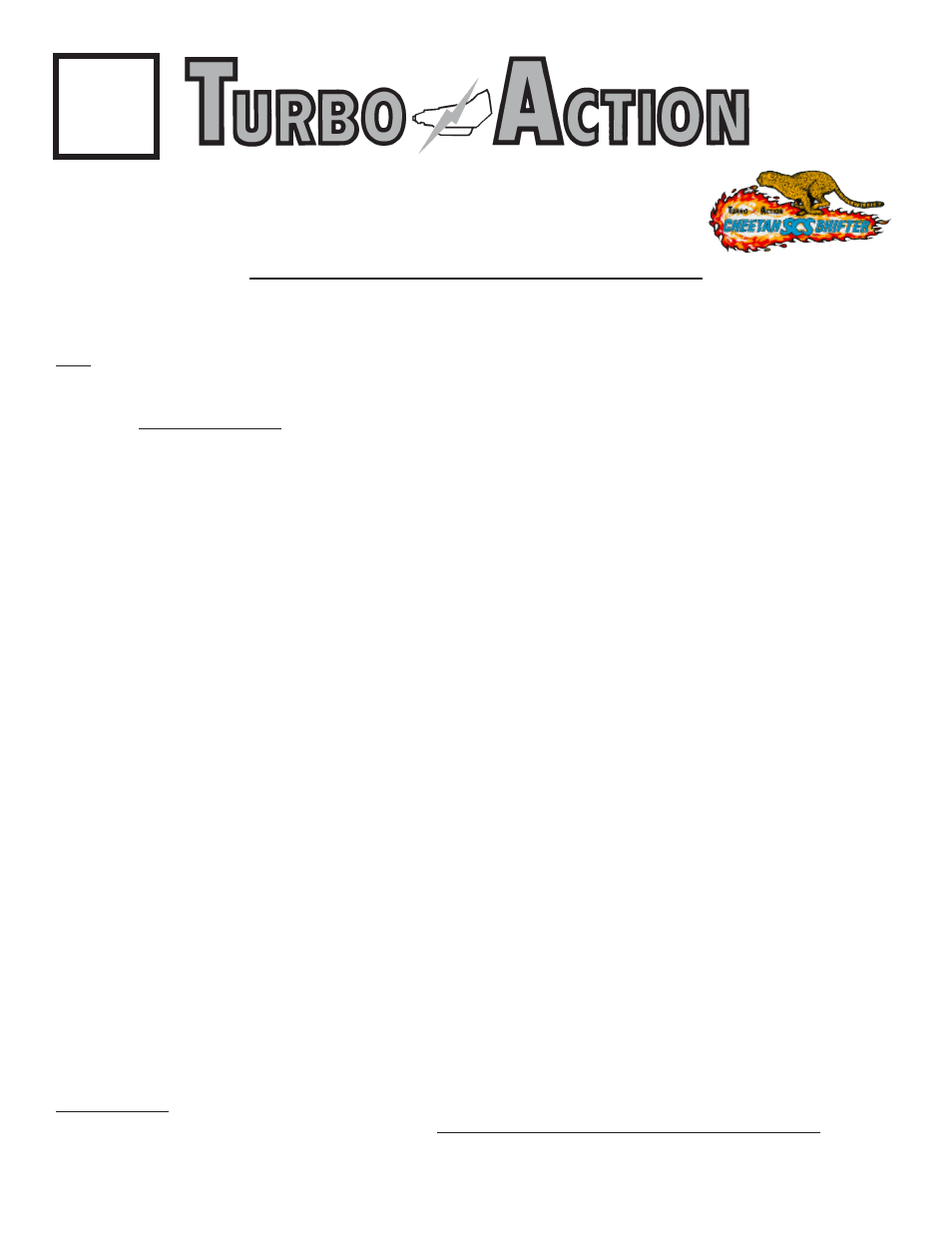 Turbo Action 70001b Cheetah Scs Shifter User Manual 6 Pages 727 Neutral Safety Switch Wiring Diagram