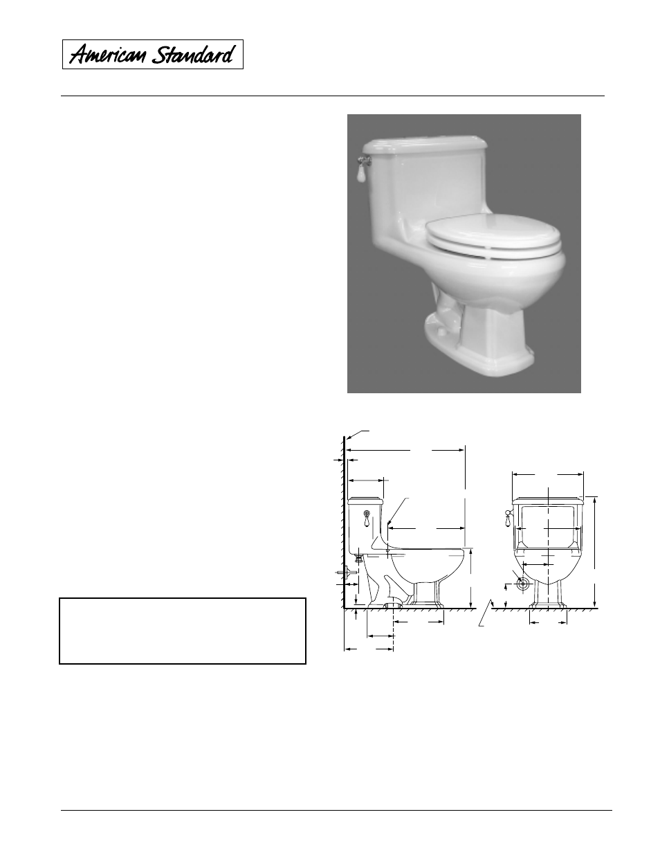 American Standard Williamsburg One-Piece Elongated Toilet