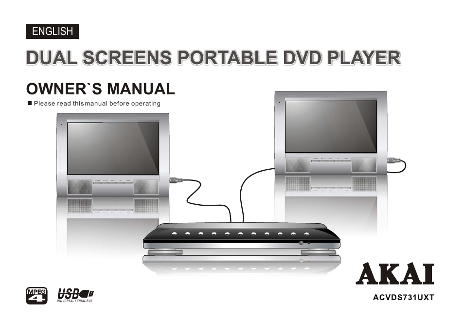 akai acvds731uxt user manual 28 pages rh manualsdir com Akai Portable DVD Player 7 akai portable dvd player manual
