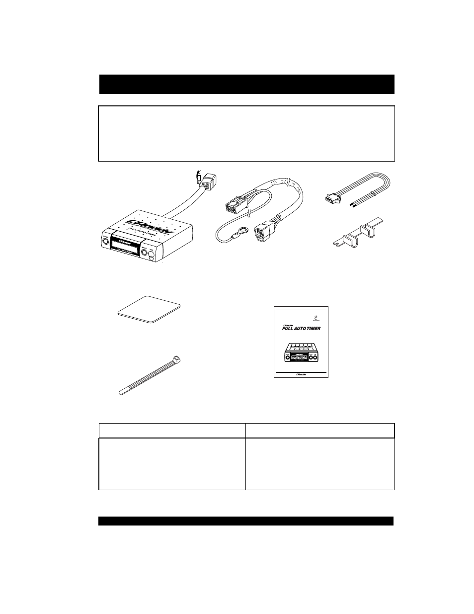 Parts list, Important | GReddy FATT Full Auto Turbo Timer User Manual |  Page 2 / 28
