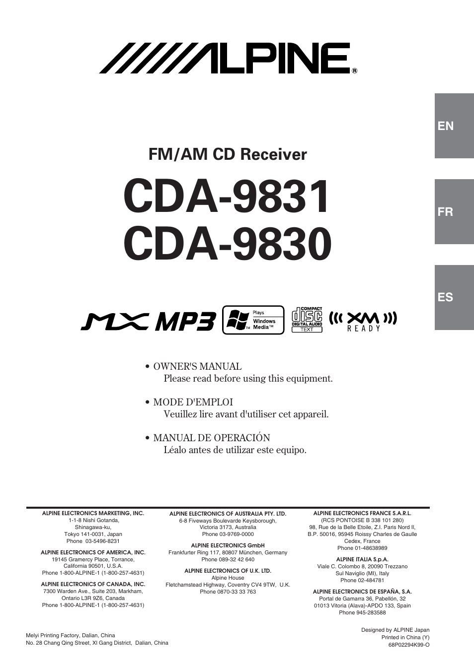 alpine cda 9830 user manual 42 pages rh manualsdir com alpine cda 9830 manual pdf HP 9830