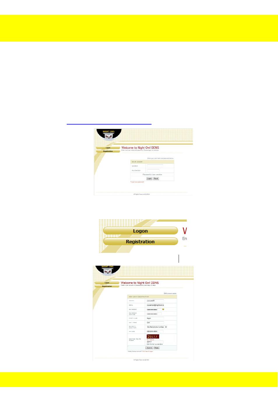 Chapter 20 ddns registration | Night Owl NODVR108-500GB User