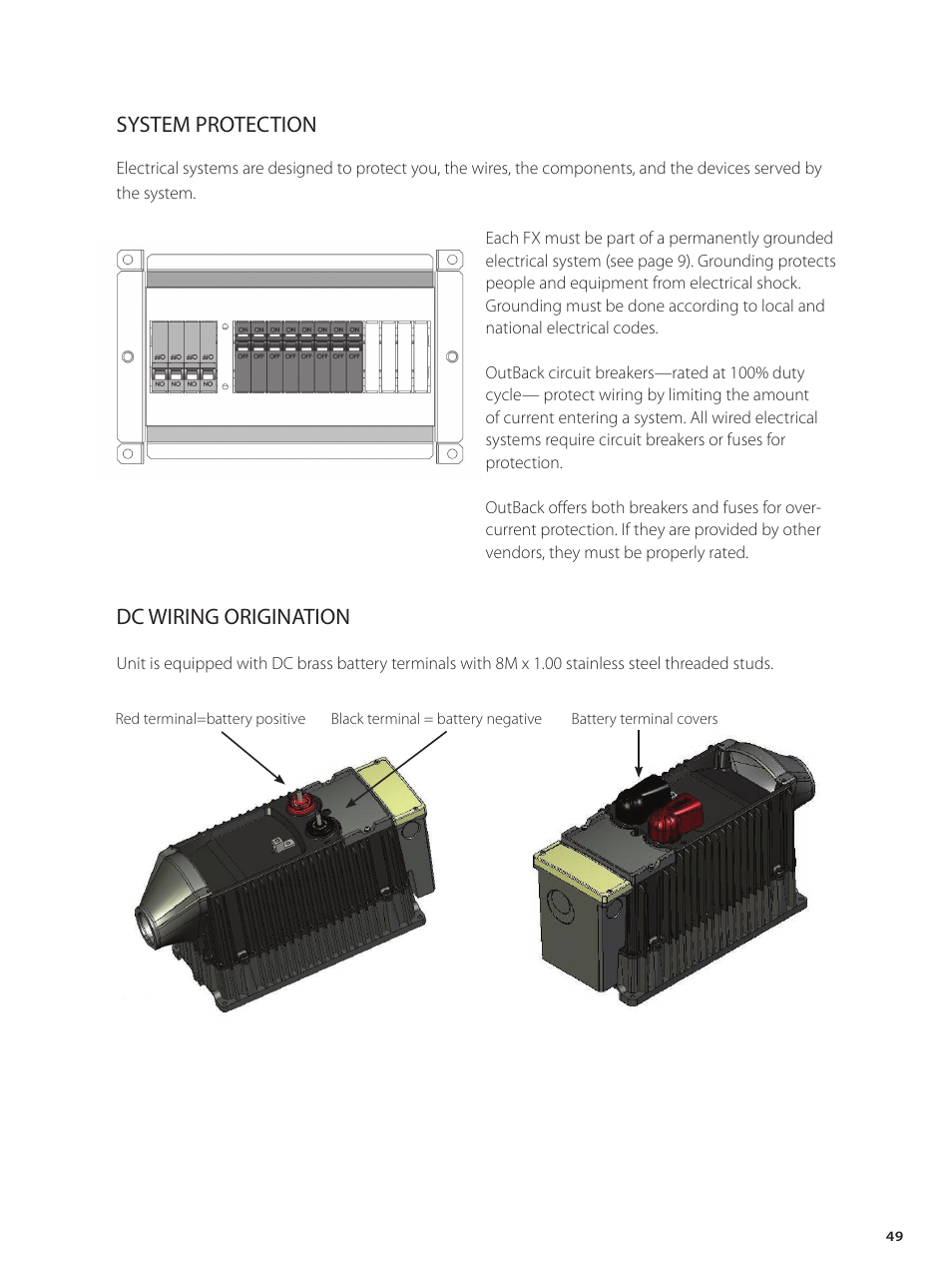 Dc Wiring Origination System Protection Outback Power Systems Inverter Charger Diagram Gvfx Series Installation