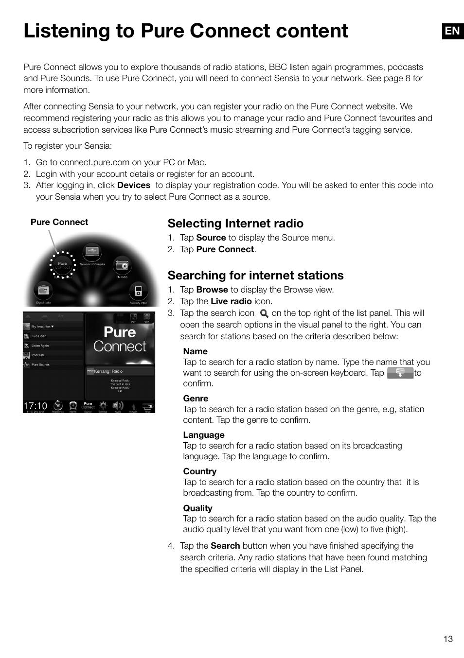 Pure sensia 200d connect manuals.