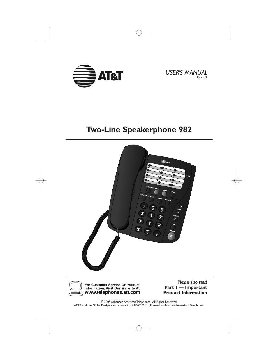 At U0026t 982 User Manual