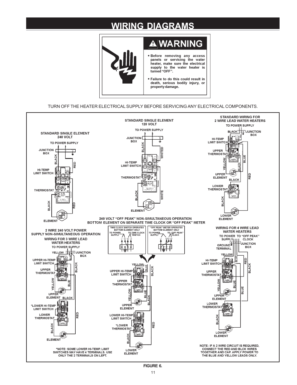 Wiring Diagrams State Es6 40 Somns K User Manual Page 11 28 Water Heater Diagram