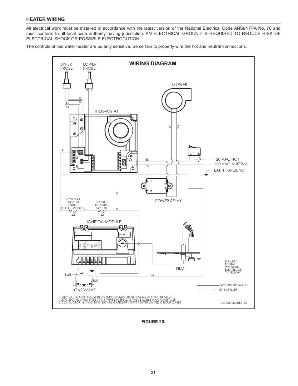 Wiring Diagram  Heater Wiring  Figure 20