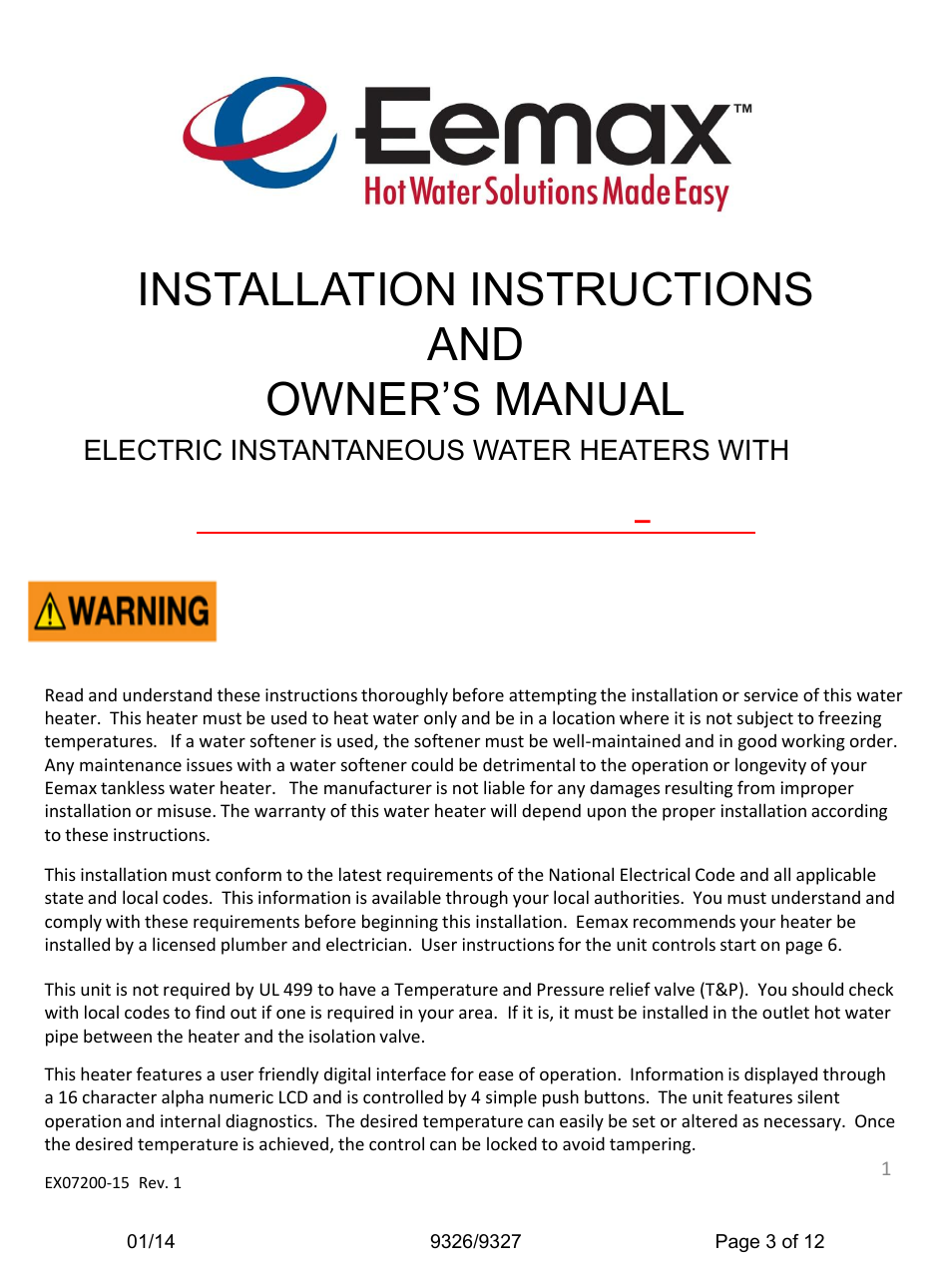 Installation instructions and owner\'s manual   Haws 9327 User Manual ...