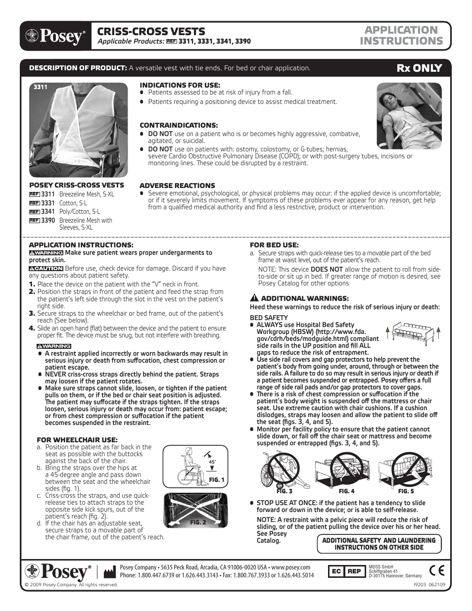 Posey Criss Cross Vest User Manual 2 Pages