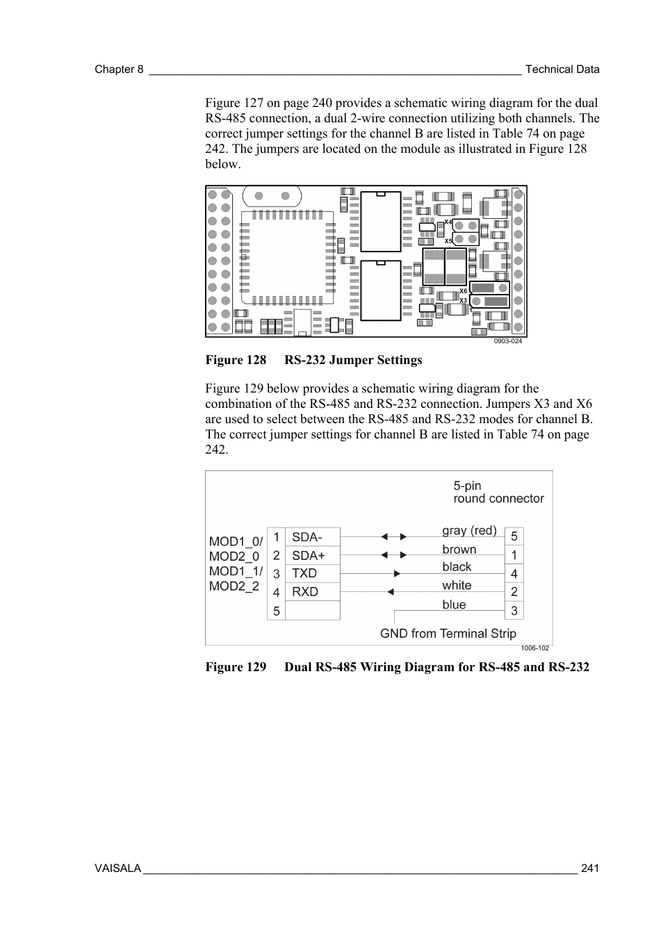 Vaisala Aws330 User Manual Page 243 296 Rs 485 2wire Diagram