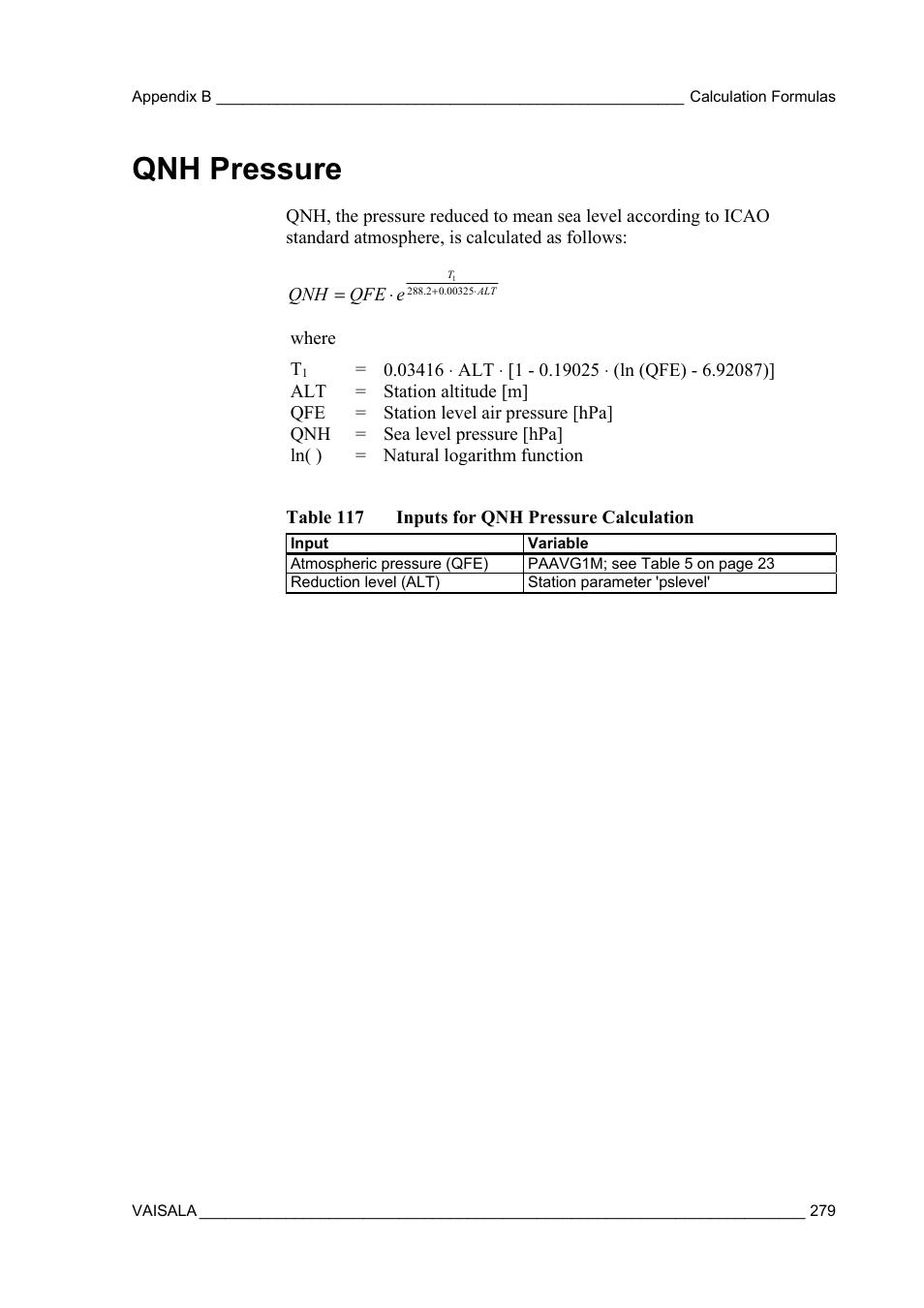 Qnh pressure   Vaisala AWS330 User Manual   Page 281 / 296