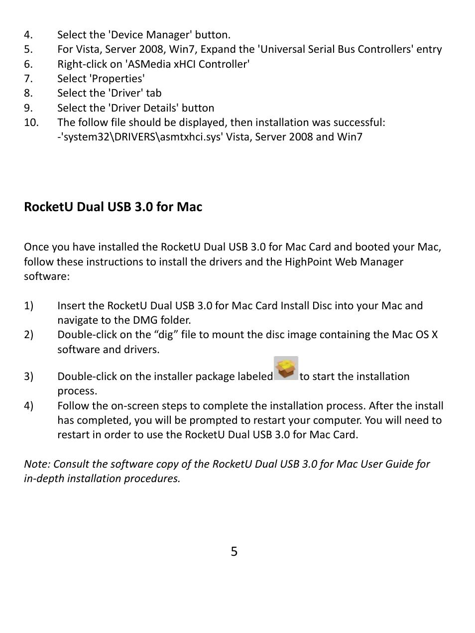 Rocketu dual usb 3 0 for mac | HighPoint RocketU 1022A User Manual
