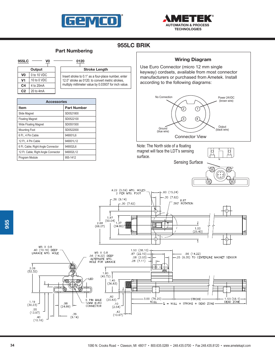 955lc Brik  Part Numbering  Wiring Diagram