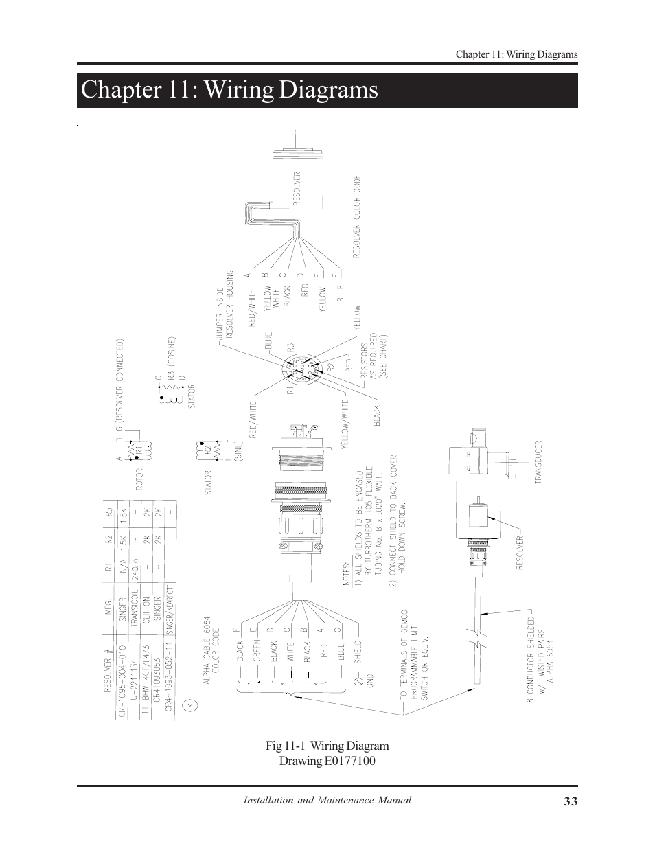 Chapter 11  Wiring Diagrams