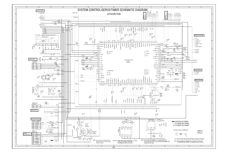 System Control Servo Timer Schematic Diagram Syscon Pcb Aiwa Hv Circuit Diagrams And Schematics