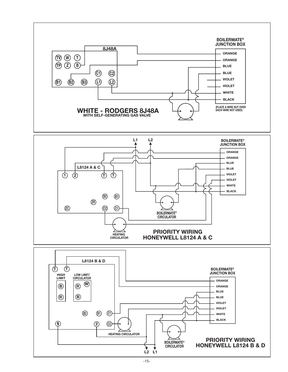 Amtrol Wiring Diagram Archive Of Automotive Aquastat L8124a White Rodgers 8j48a Priority Honeywell L8124 A C Rh Manualsdir Com