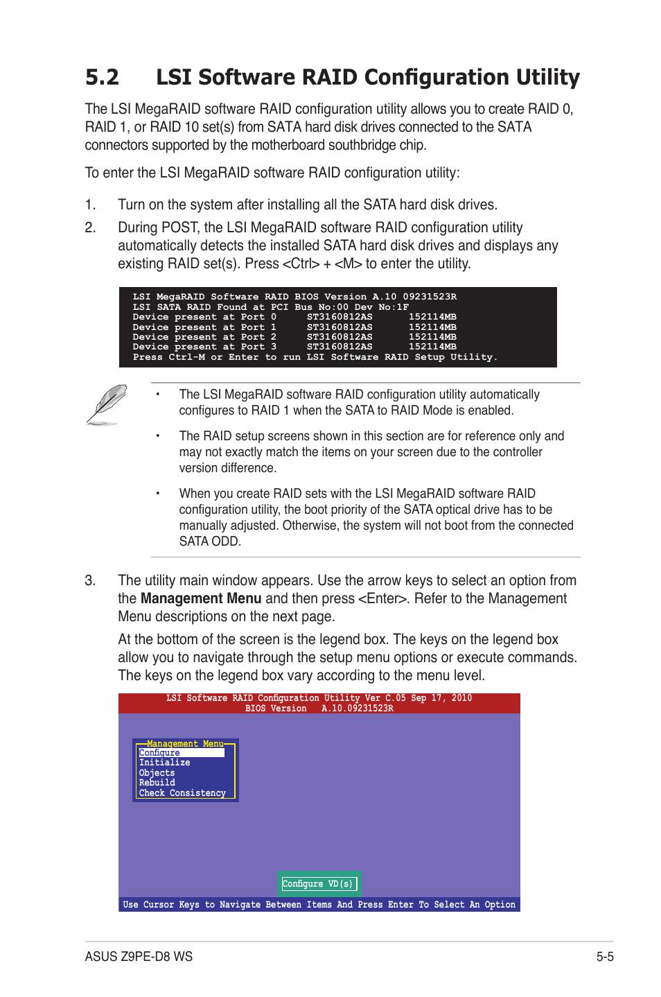 2 lsi software raid configuration utility, Lsi software raid